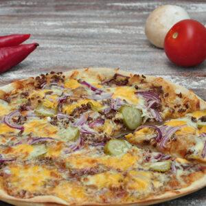 bbq burger pizza