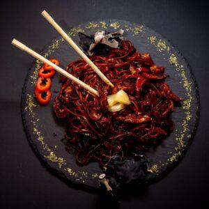 Hot thai chicken noodle