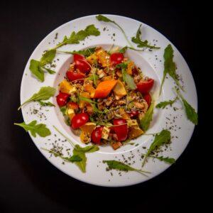 Orange chicken salad with sesame vinaigrette