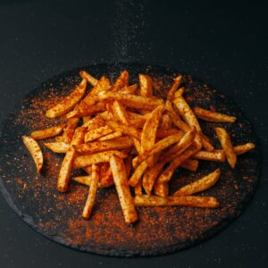 Fried potatoes seasoned with mexican spice